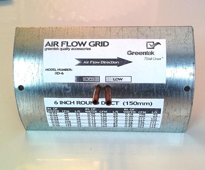 Greentek 6 Inch Round Duct Air Flow Grid RD